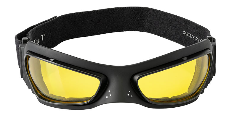 Masque moto santa fe jaune