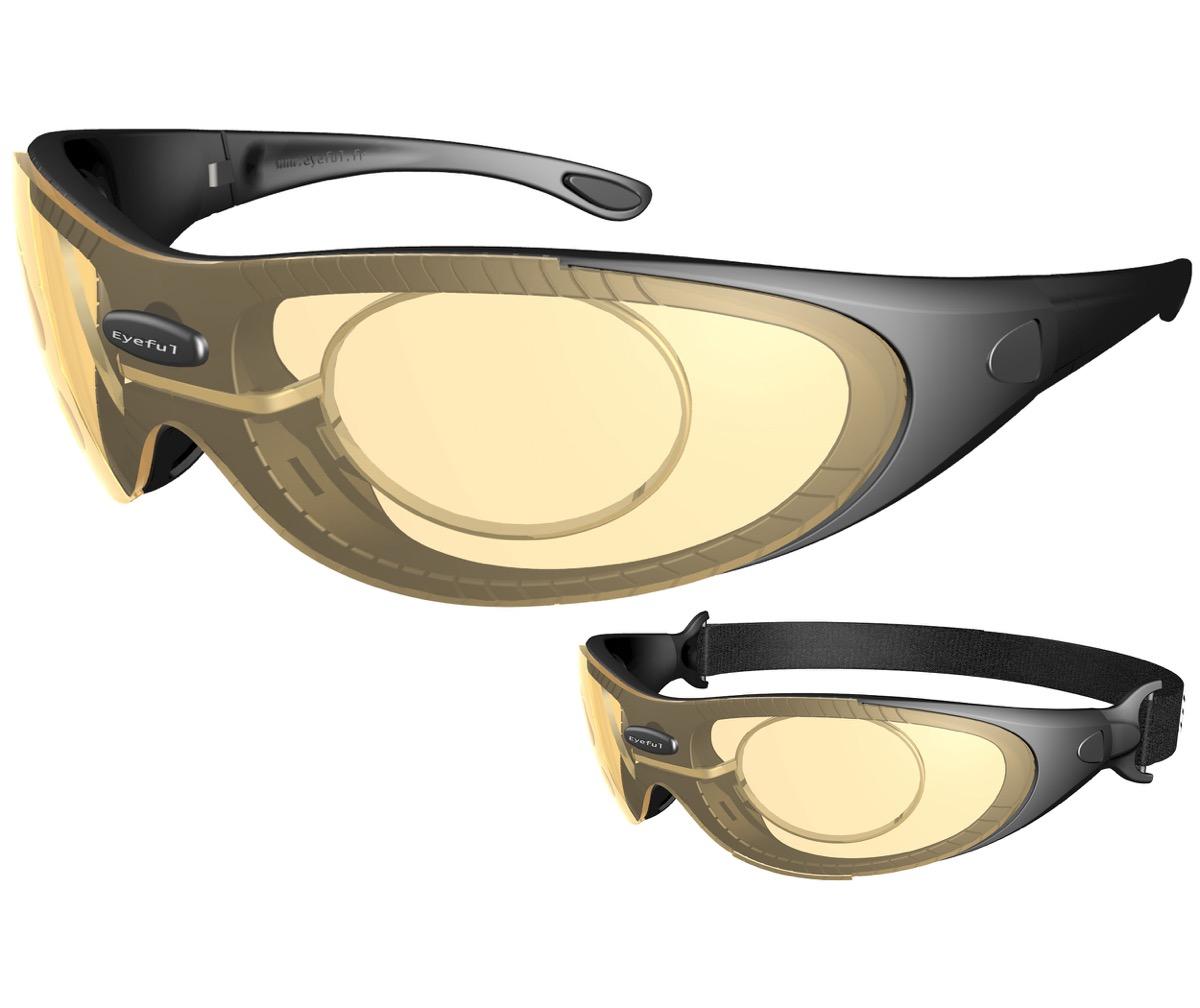 aliexpress style roman marque populaire Lunettes de vue moto et sport avec kit pour verres correcteurs EYEFUL
