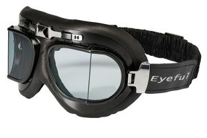 masque cuir moto vintage rétro biker Riverton Eyeful verres blancs transparents