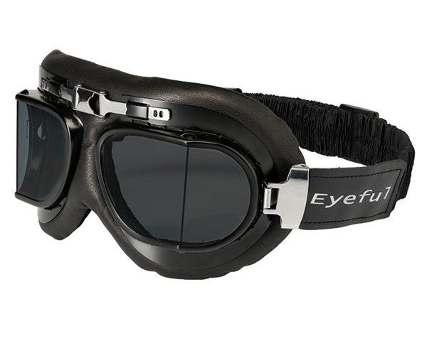 masque cuir moto vintage rétro biker Riverton Eyeful verres fumés